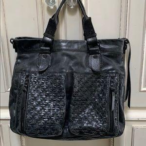 Eliot Luca Black Leather Handbag